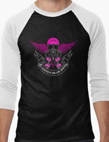 Gladstone Roller Derby League Black Tee Men's Baseball ¾ T-Shirt