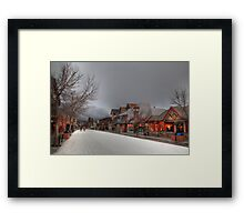 Skiing in Canmore II Framed Print