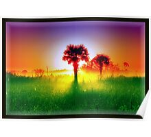 Palm Tree Sunrise Poster