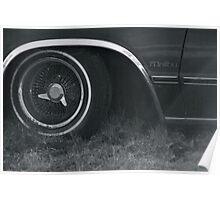 Worn-out Malibu Car Wheel  Poster