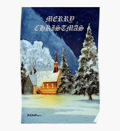 Merry Christmas Card Poster