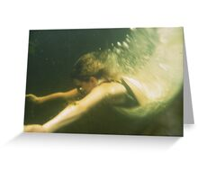 Diving for dreams Greeting Card