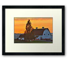 Red and White Barn Framed Print
