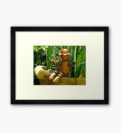 Flower Pot Man Framed Print