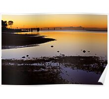 Baxters Jetty, Sandgate at first light. Brisbane, Queensland, Australia.  Poster