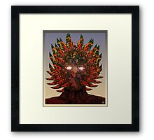 Monster Chief Dip Pen and Ink Drawing  Framed Print