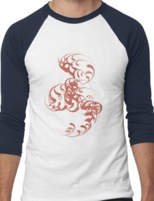 Cute Whirls Cool Lovely Grunge T-Shirt Men's Baseball ¾ T-Shirt