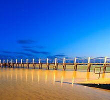 Narrabeen pool board walk by Doug Cliff