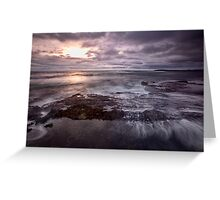 Barely A Sunrise - Blackwoods Beach, NSW Greeting Card