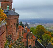 Castle in Alsace retouched by Michael Brewer