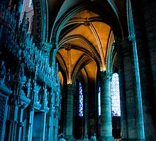 Chartres - the halls around the nave by Michael Brewer