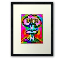 Truth bombs Framed Print