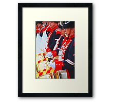 drum corps Framed Print