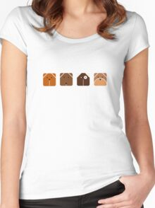 Canine Cubes Women's Fitted Scoop T-Shirt