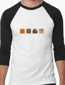 Canine Cubes Men's Baseball ¾ T-Shirt