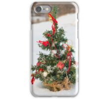 Snow Covered Christmas Tree iPhone Case/Skin