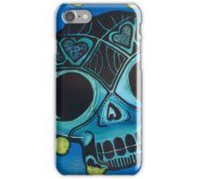 Cool Blue Love Skull Wins! iPhone Case/Skin