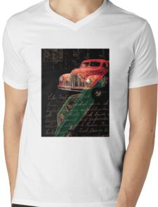 Dark Car Mens V-Neck T-Shirt