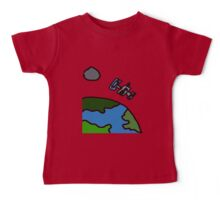 A Cartoon of earth from space Baby Tee