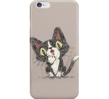 Surprised black cat iPhone Case/Skin