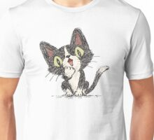 Surprised black cat Unisex T-Shirt