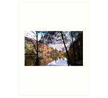 Loch Ard in the autumn Art Print