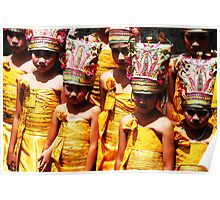 girls at puri agung ceremony Poster