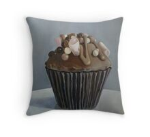 The Rocky Road to Cup Cake Heaven Throw Pillow
