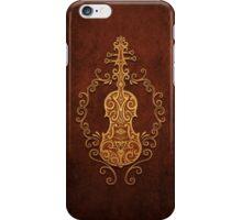 Aged Vintage Brown Tribal Violin Design iPhone Case/Skin