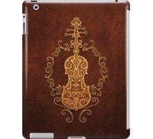 Aged Vintage Brown Tribal Violin Design iPad Case/Skin