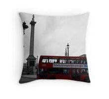 The Other Old Favorite The Red Bus Throw Pillow