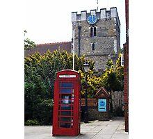Phone Box Red Photographic Print