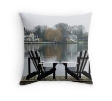 by the Waterside  Throw Pillow