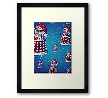 Christmas style Doctor who Daleks  Framed Print
