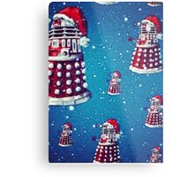 Christmas style Doctor who Daleks  Metal Print