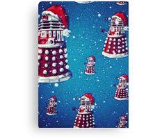 Christmas style Doctor who Daleks  Canvas Print