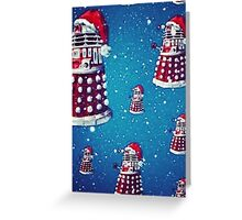 Christmas style Doctor who Daleks  Greeting Card