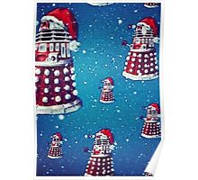 Christmas style Doctor who Daleks  Poster