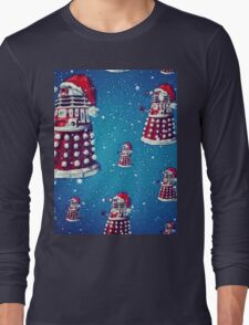 Christmas style Doctor who Daleks  Long Sleeve T-Shirt