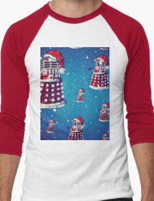 Christmas style Doctor who Daleks  Men's Baseball ¾ T-Shirt