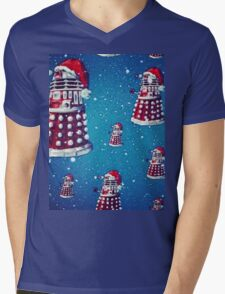 Christmas style Doctor who Daleks  Mens V-Neck T-Shirt