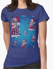 Christmas style Doctor who Daleks  Womens Fitted T-Shirt