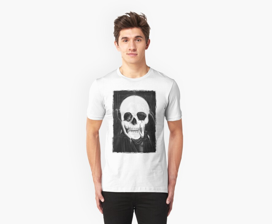 Skull Optical Illusion tee by dashinvaine