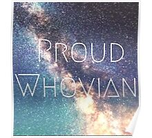 Proud Whovian Doctor who merchandise  Poster