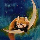 Red Panda Moon by Michael Creese