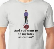 Seinfeld's Latex Salesman Unisex T-Shirt