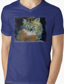 Himalayan Cat Mens V-Neck T-Shirt