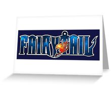 Fairy Tail Galaxy Greeting Card