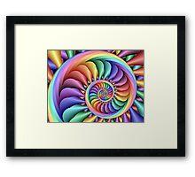 Rainbow Sherbert Framed Print
