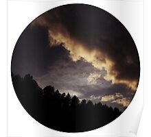 Dark Clouds rising over Pines Poster
